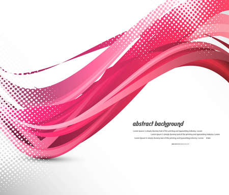 twists: abstract design colorful wave vector design Illustration
