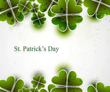 leafed: beautiful saint patricks day vector illustration
