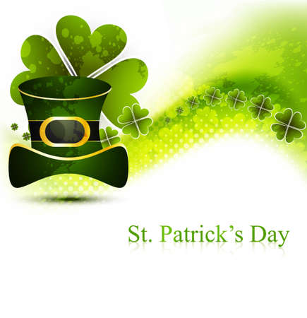 st patrick's day illustration with hat vector Stock Vector - 19260288