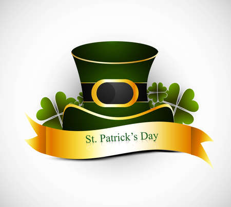 st. patrick's day hat new shiny design Stock Vector - 19260079