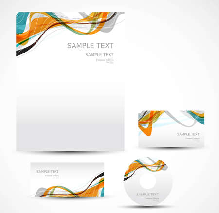 business card template:  new style template art vector illustration Illustration