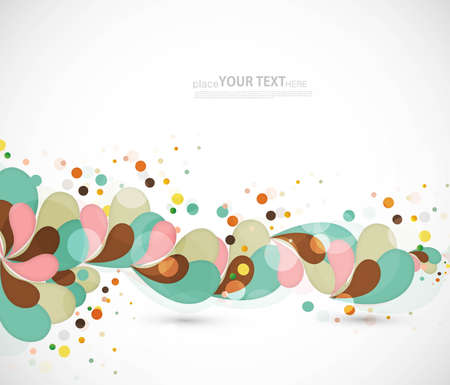 Splash of floral and ornamental vector background  illustration Vector