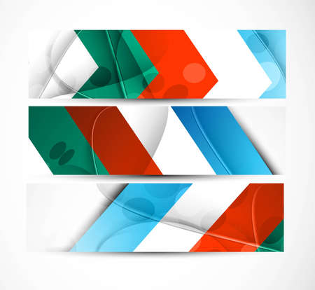 abstract new colorful arrow header vector set Stock Vector - 19260216