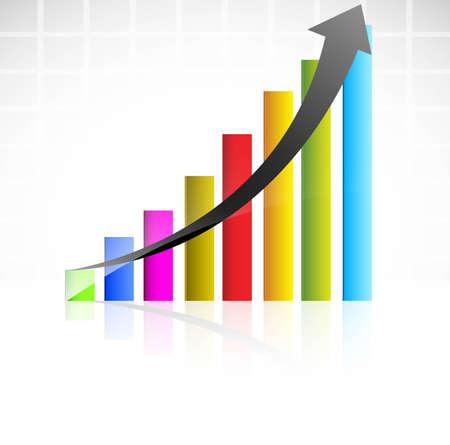 increase diagram: Increase diagram illustration vector design Illustration