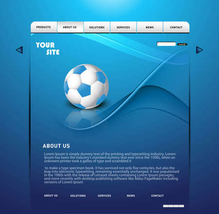 Website Template layout Vector design illustration Stock Vector - 19260316