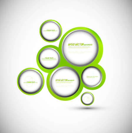 Abstract web design new circle bubble vector  Vector