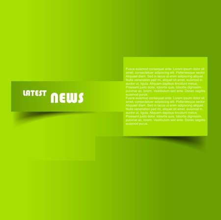 Ontwikkeling van de reclame brochure groene kleurrijke achtergrond