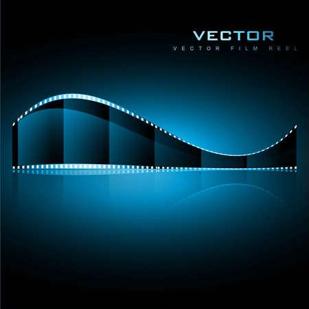 realistic vector shiny film reel illustration Vector