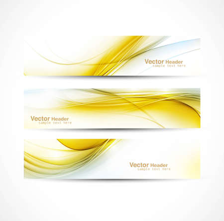 abstract new wave header vector set design Stock Vector - 19494334