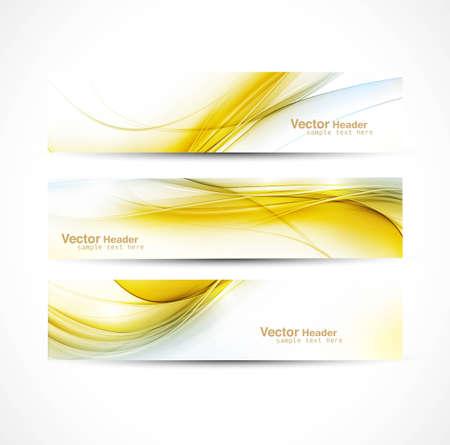 abstract new wave header vector set design