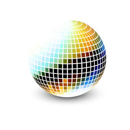 새로운 3d 광택 구 벡터 디자인