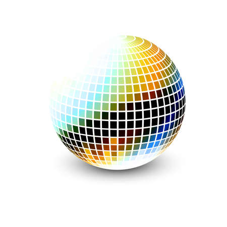 new 3d glossy sphere vector design