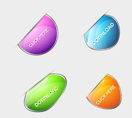 Set of new colorful labels icon  illustration Vector
