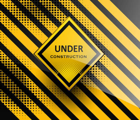 cray: Under construction sign symbol style design