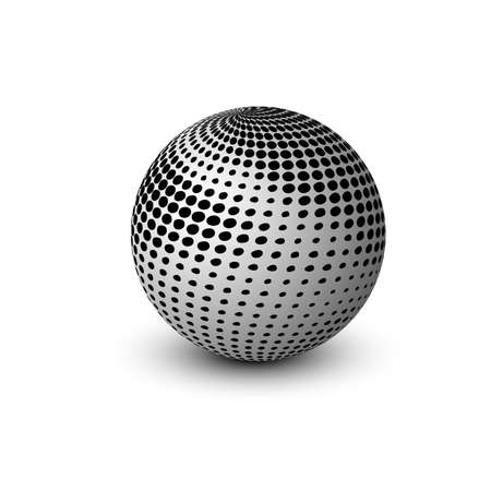 globe grid: new 3d glossy sphere vector design illustration