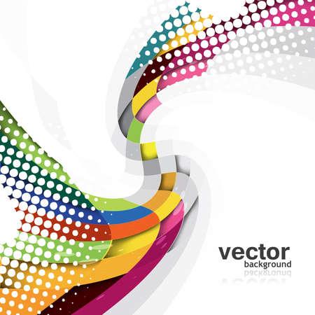 synergy: Abstractos nuevo arco iris de dise�o vectorial Wave Vectores
