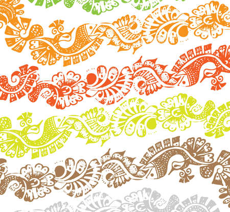 abstract Floral paisley frame vector design Vector