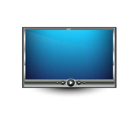 whit: bright colorful digital LCD tv illustration whit background Illustration