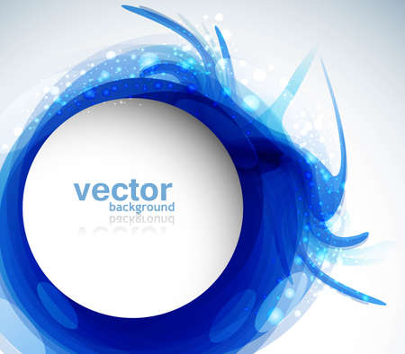 Abstract colorful blue circle background vector