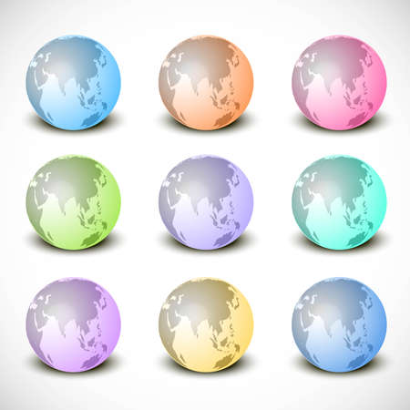 new shiny colorful Glass Earth Collection vector Stock Vector - 19723729