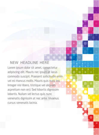 halftone: Abstract mosaic colorful background vector