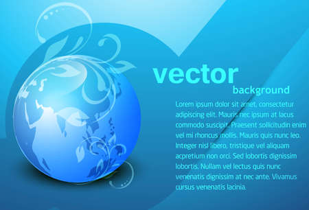 abstract blue colorful glossy globe background Vector Vector