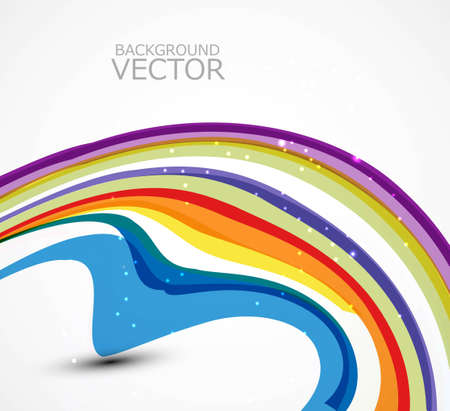 twists: abstract design colorful new rainbow wave vector  Illustration