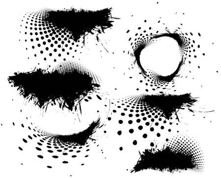 splotches: abstract Grungy vector design elements