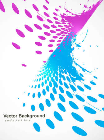 Abstract wave halftone line background vector Stock Vector - 20080334