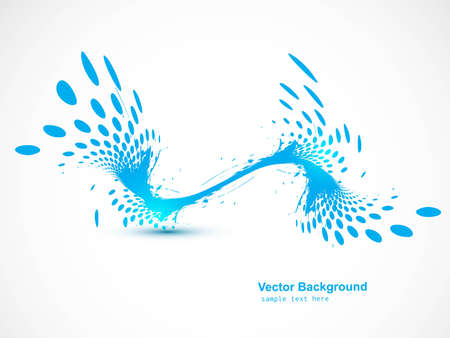 Abstract wave halftone line background vector Stock Vector - 20080350