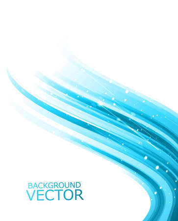whit: Abstract technology lines blue shiny wave vector illustration Illustration