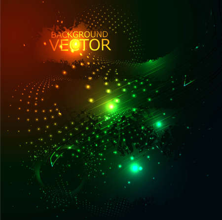 special effects: abstract shiny colorful special effects grunge vector design