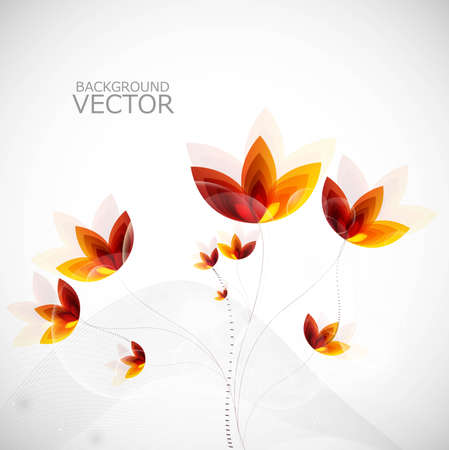 Abstract new colorful shiny flower pattern illustration vector Vector