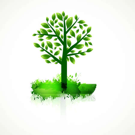 abstract colorful green tree for best design vector Stock Vector - 20080432