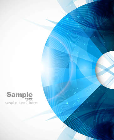 Abstract colorful blue circle background illustration vector Illustration