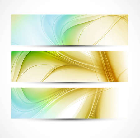 abstract new wave header set design  illustration Stock Vector - 20323439