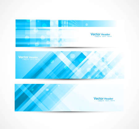 abstract new line wave header set illustration