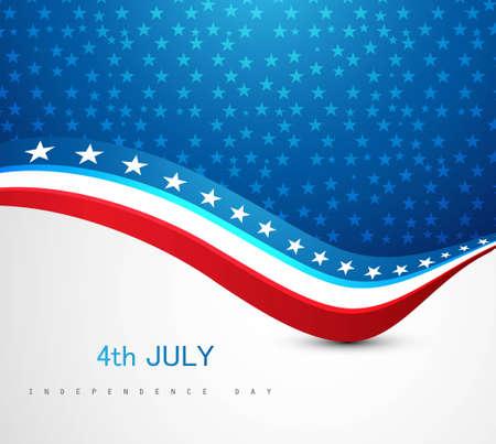 미국의 국기 제 4 회 7 월 미국 독립 기념일 파도 벡터