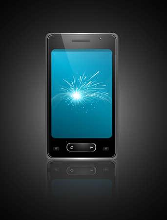 Mobile smartphone original reflection design vector Stock Vector - 20615087