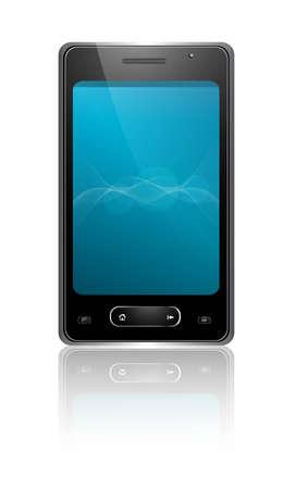 Mobile phone reflection white vector illustration Stock Vector - 20615092