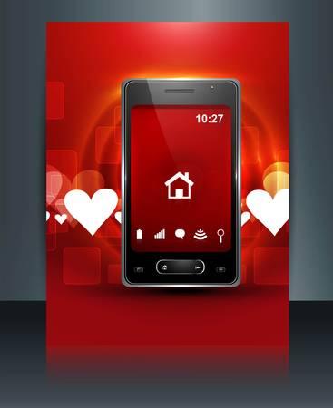 Abstract smart phone or mobile brochure colorful handset reflection presentation background illustration Stock Vector - 20615033