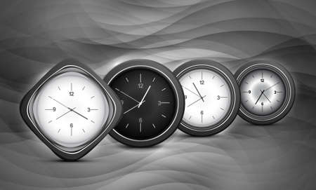 duration: metal shiny different presentation watches wave background