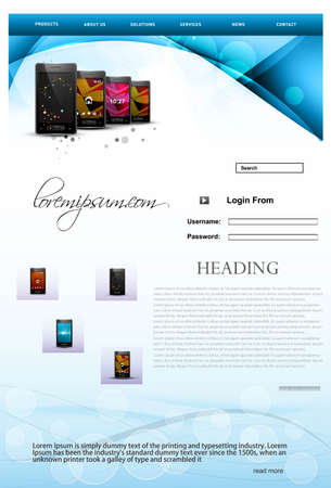 Website template mobile colorful illustration