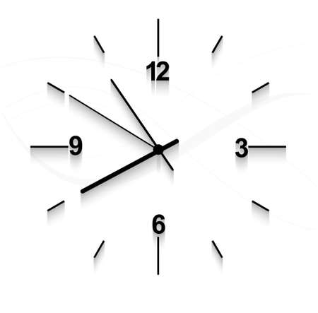 wall clock: Watch stopwatch graphic element white background  Illustration