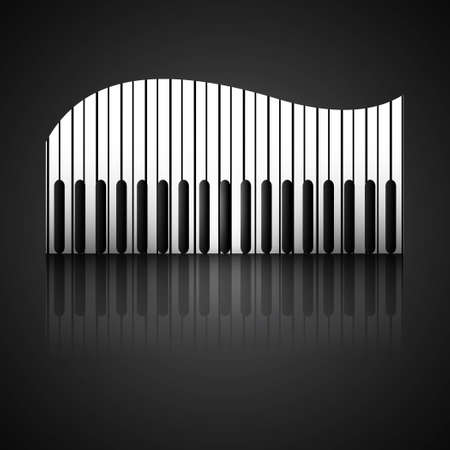 virtuoso: Abstract background with piano keys reflection design illustration