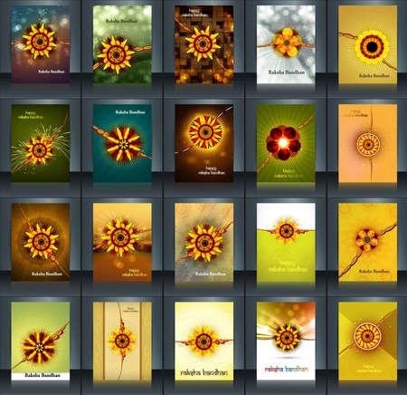 bahan: Raksha bandhan beautiful celebration 25 brochure collection presentation reflection design