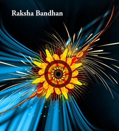raksha: Fantastic Raksha bandhan festival colorful background  Illustration