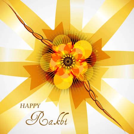 raksha: Indian festival Raksha Bandhan colorful background