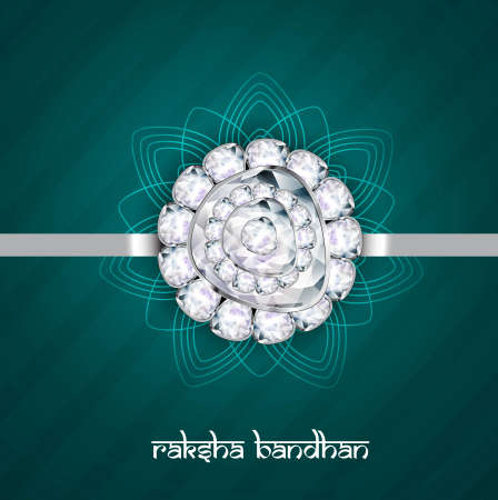 raksha: Fantastic raksha bandhan indian hindu festival design Illustration