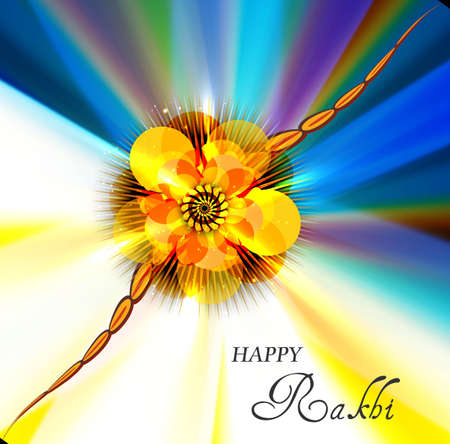 bahan: illustration of  beautiful Raksha bandhan festival background